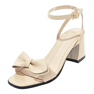 best website 1429c e59bd COOLCEPT Damen Sommer Sandalen mit Blockabsatz