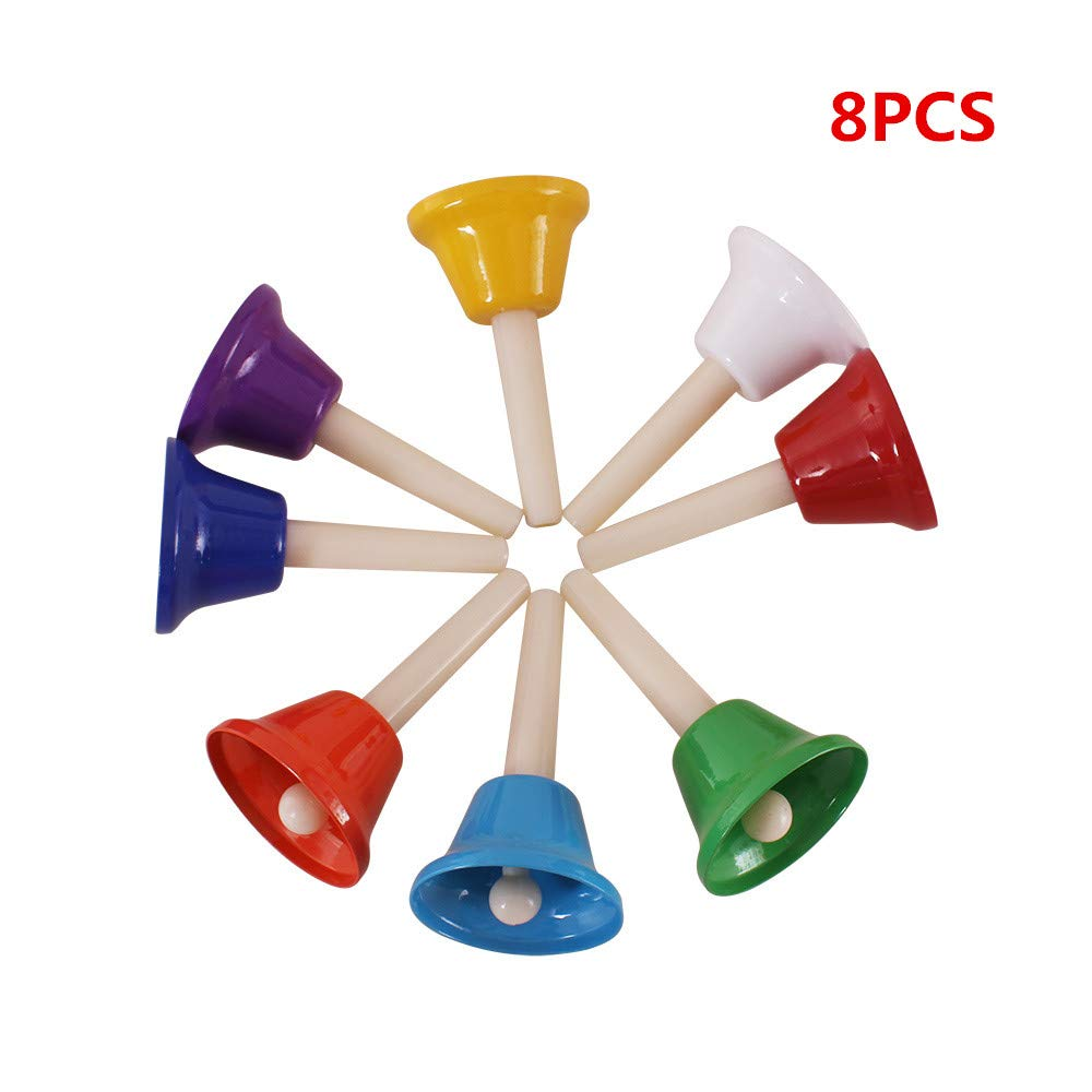 8-Note Colorful Kid Children Toy 8 Pcs Handbells Percussion Musical Instrument