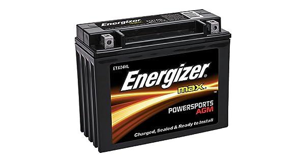 Amazon.com: Energizer ETX24HL AGM Moto y ATV 12V batería ...