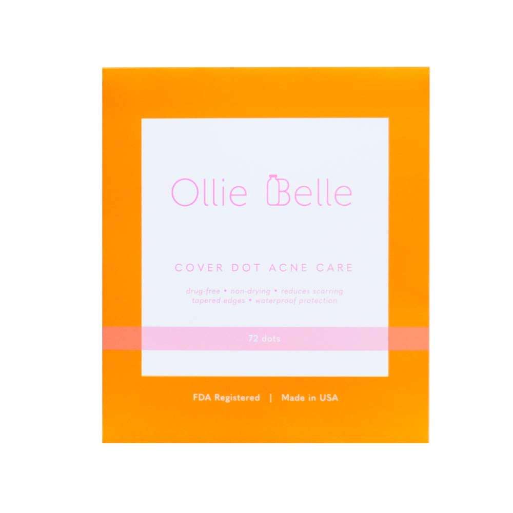 Cover Dot Acne Care (72 Dots) Skin Blemish Treatment with Hydrocolloid   Clear, Waterproof Patch   Oil and Pimple Absorbing