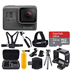 The GoPro HERO6 Black action camera provides more processing power than the preceding model, while keeping to a familiar design. The optimized GP1 processor brings higher frame rates in 4K, 2.7K, and 1080p HD resolutions. Where previous model...