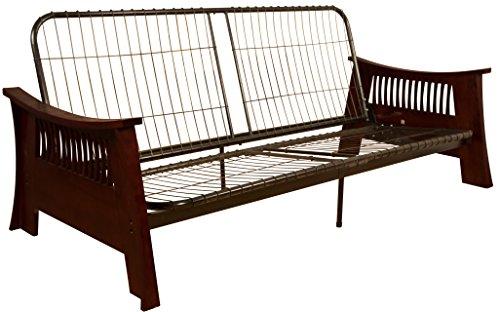 Tokyo Futon Sofa Sleeper Bed Frame, Queen-size, Mahogany Arm Finish (Mahogany Oak Futon Frame)