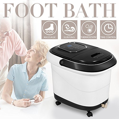 Natsukage All-in-one Foot Spa Bath Massager with Heat, Rolling Massage, Digital Temperature Control LED Display (LY-809(Black)) by Natsukage
