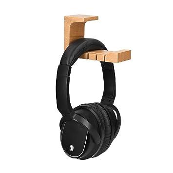 kwmobile Soporte de Madera para Cascos - Colgador de Madera de Haya para Headphones - Percha