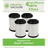 4 Cartridge Filters for Shark EP604 Stick Vacuums; Compare to Shark Part No. EU18410; Designed & Engineered by Crucial Vacuum