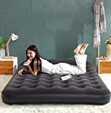 Air Mattress Inflatable bed built-in headrest double individual household use outdoor portable -C
