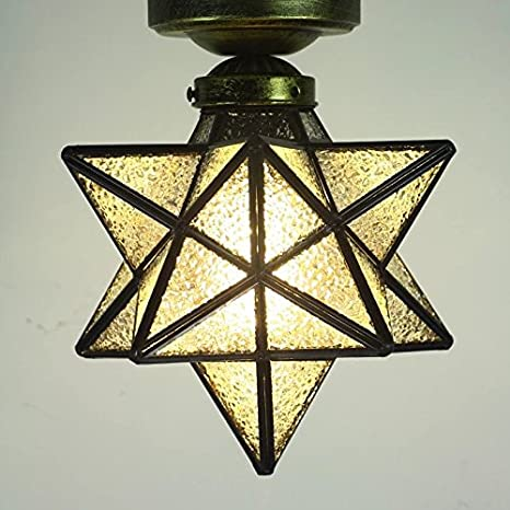 Crystal flush mount moravian star ceiling light shade with e26 bulb crystal flush mount moravian star ceiling light shade with e26 bulb 8 close to aloadofball Image collections