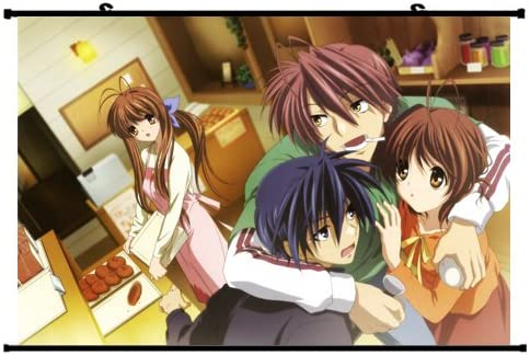 Amazon Com Poster Clannad Anime Wall Scroll Okazaki Tomoya