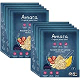 Amara Baby Food, Ancient Grain Cereal, Healthy Baby & Infant Food, Organic Fruits and Veggies for Baby and Toddler Meals - Stage 3 (10 Pouches)