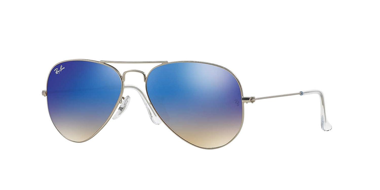New Unisex Sunglasses Ray-Ban RB3025 Aviator Gradient 001/3F B01FI2KUIQ  シルバーマット