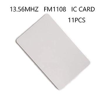 11X FM1108,13.56MHZ Alta frecuencia, Tarjeta IC en Blanco. Tamaño ...