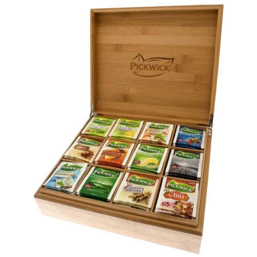 Pickwick Tee Geschenk Kiste mit 12 Sorten Pickwick Tee, Geschenkbox, Teebox, 144 Teebeutel