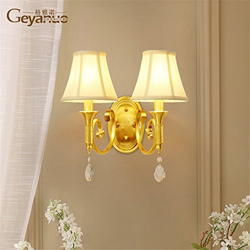 Sconce Porcelain Brass (Industrial Vintage Wall Sconces A Brass Wall Lights Crystal Fabrics Living Room Dining Room Bedroom Bed Balcony Aisle Wall lamp)