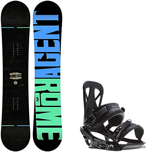 Rome Agent 146 Mens Snowboard + Rome United Bindings - Fits US Mens Boots Sizes: 7,8,9,10 (Mens Rome Snowboard Package compare prices)
