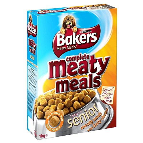 Bakers Complete Meaty Meals Senior with Chicken (950g) - Pack of - Chicken Meals Meaty