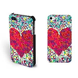 Colorful 3d Love Heart Pattern Design Ipod Touch 4 Hipster Diamond Art Case For Ipod Touch 4 Cover Skin
