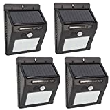 vTopTek 30 LEDs Motion Sensor Solar Outdoor Wall Lights, Solar Powered Waterproof and Security Light with PIR Motion Sensor Solar for Garden, Patio, Path Lighting (30Light 4PACK)