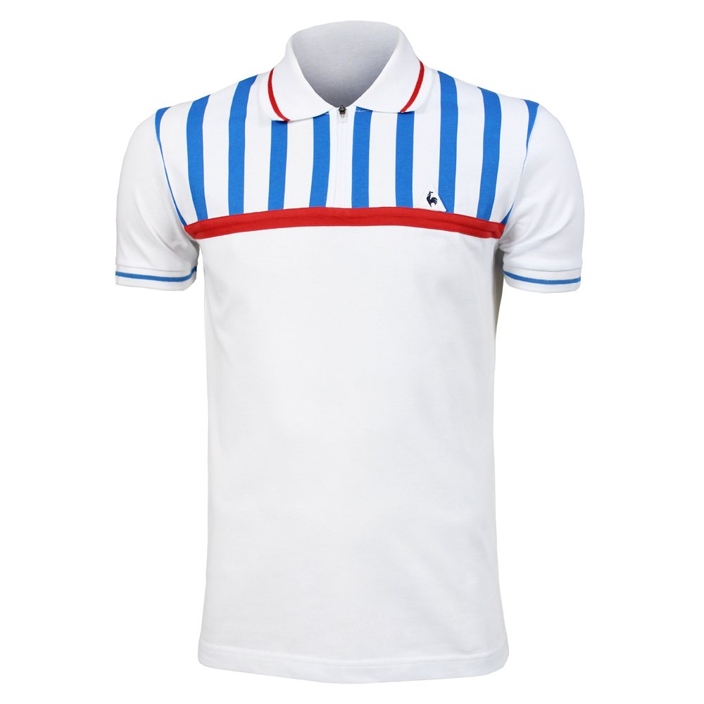Le Coq Sportif Tri Lf Polo SS Stripes M Optical White 1710599 Polo ...