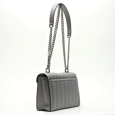 Michael Kors petite Whitney matelassée en cuir gris perle