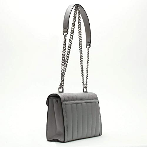 abfa7a1b3a8f Michael Kors Small Whitney Quilted Pearl Grey Leather Shoulder Bag Grey  Leather