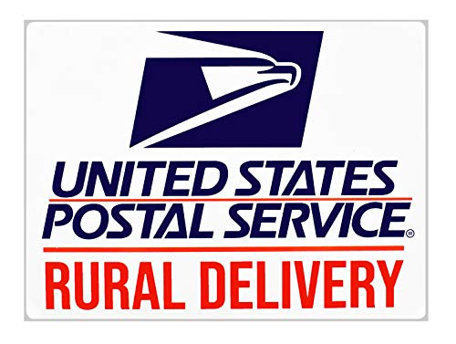"Rural Delivery Magnetic Sign for U.S. Mail, 9"" x 12"" by Safety Supply Mart"