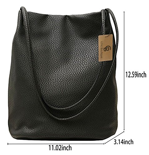 Bags Black Tote Purse Womens Leather Handbags Hobo Bucket Bag Shoulder Hq8P6pwzzW