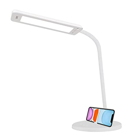 QueenDer Lámpara Escritorio LED, Lámparas de Mesa USB Regulable ...