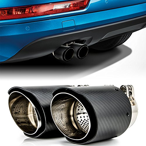 """Carbon Fiber Exhaust Tips Fit BMW Sedan, Coupe and Convertible with 2.25"""" to 2.5"""