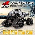 ZEGAN ZG-C1231WS 1/12 4WD 2.4GキャタピラーRC軍用トラックオフロードRCカーブルー