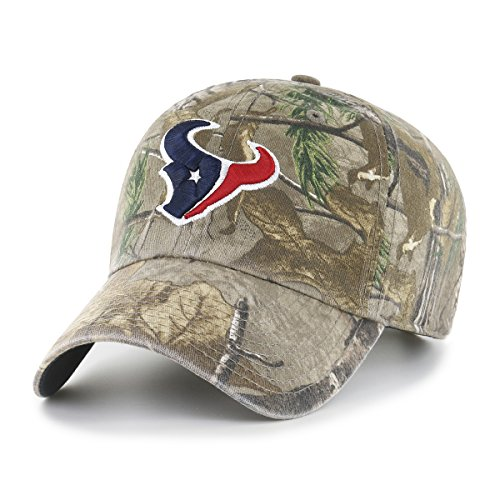 NFL Houston Texans Realtree OTS Challenger Adjustable Hat, Realtree Camo, One Size