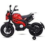 Baybee Adventure Battery Operated Bike for Kids/Toddler/Children Ride on Bike for Kids/Boys Toy Motor Bike for Kids-Electric Bike for Kids Suitable for Boys & Girls 2-6 Years (Blue)