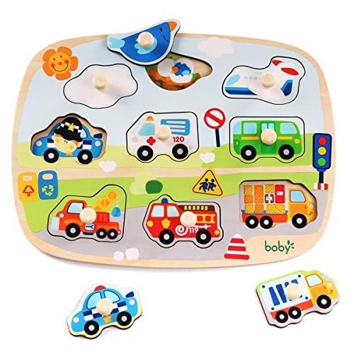 Grande taille Puzzle en bois pegged, apprentissage éducatif Jeu de jouets préscolaires pour enfants, Meilleur cadeau d'anniversaire pour l'âge 3 4 5 ans Enfants Baby Toddles Boys Girls