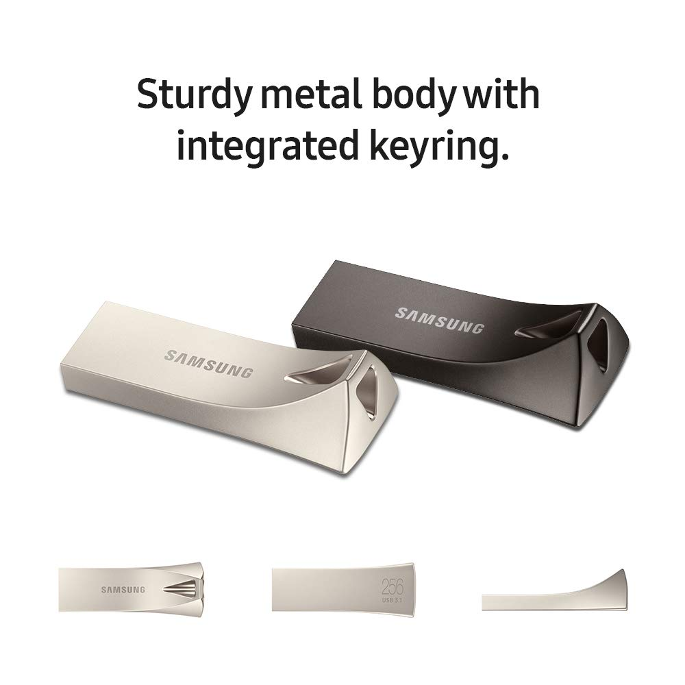 Samsung BAR Plus 64GB 200MB//s USB 3.1 Flash Drive Titan Gray MUF-64BE4//AM