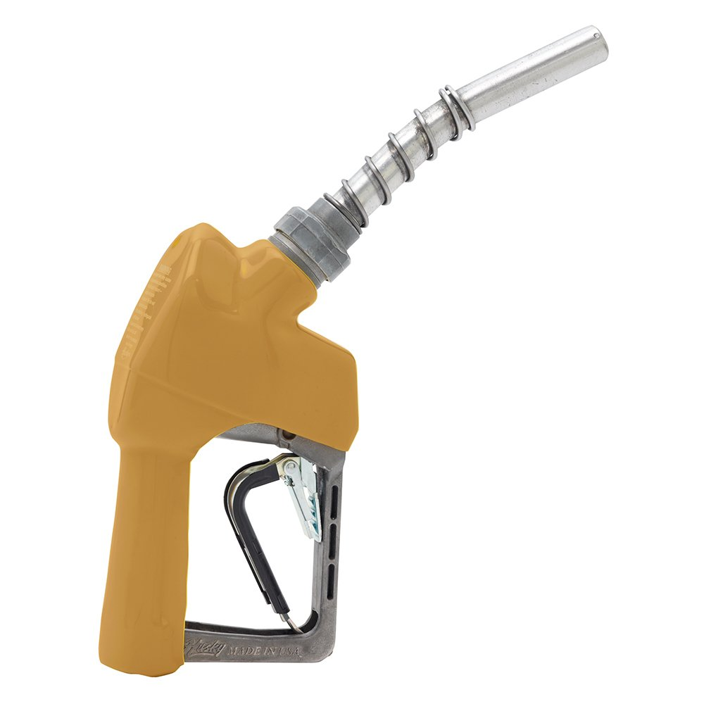Husky 159503-08 New XS Pressure Activated Light Duty Diesel Nozzle with Three Notch Hold Open Clip and Full Grip Guard