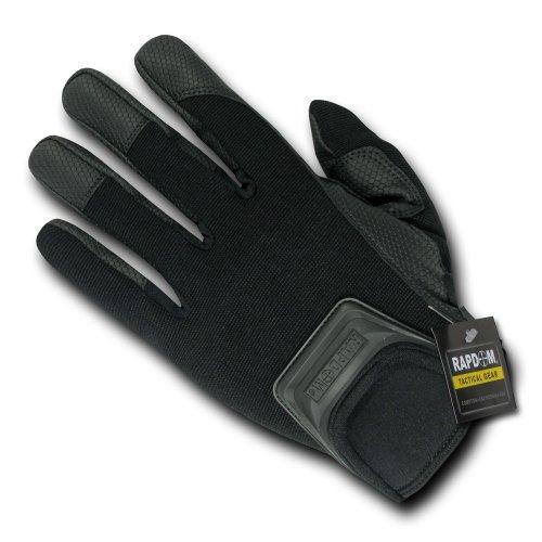 RAPDOM Tactical Short Cuff Gloves, Black, Medium -