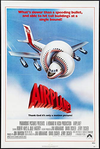 - DROB Collectibles 1980 Airplane! Movie Poster Reprint - Vintage Theater Advertisement (17