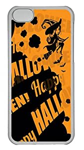 iPhone 5C Cases and Covers Happy Halloween Witch iPhone 5C Hard Case - Polycarbonate - Transparent