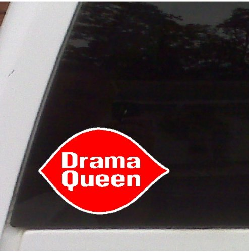 - Drama Queen Funny Car Decal Window Stickers Graphics Laptop Decal (5
