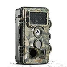 Wildlife Camera, ABASK Trail Surveillance Waterproof Scouting Digital Camera 3 Zone Infrared Sensor 12MP 1080P HD With Time Lapse 65ft 120° Wide Angle Night VisionFor Game & Hunting
