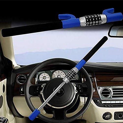Universal Steering Wheel Lock Keyless Password Code Heavy Duty Security Anti Theft Steel for Vehicle Car Truck Van SUV