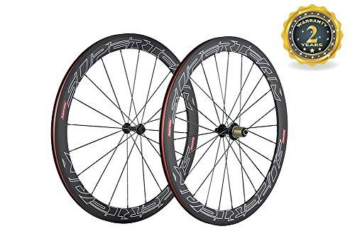 Superteam Road Bike Carbon Wheelset 50mm Clincher Wheel with Ceramic Bearing Hub