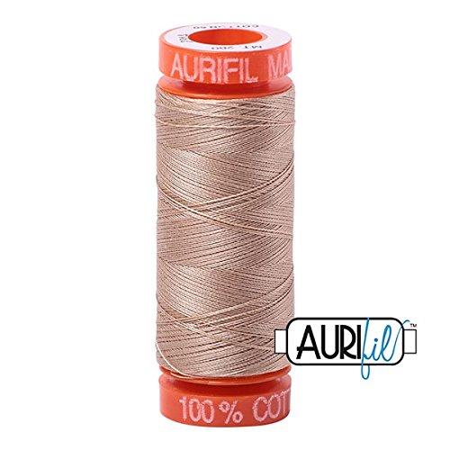 Aurifil Cotton Mako Thread 50 Weight Beige Mini Spool 220 Yards / 200 Meters ()