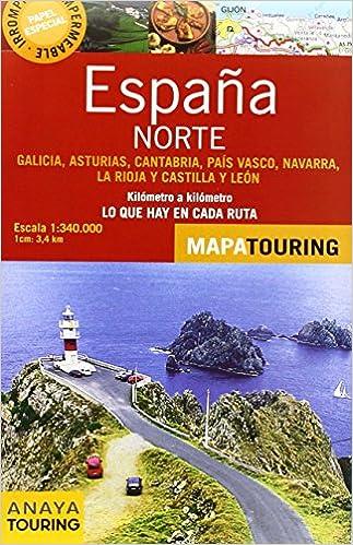 Norte De España. Mapa De Carreteras. Escala 1:340.000 Mapa Touring: Amazon.es: Anaya Touring: Libros