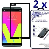 [2-Pack] LG V20 Screen Protector ,Nacodex Tempered Glass Screen Protector For LG V20,Screen Protection Case Fit 99% Touch Accurate [Black]