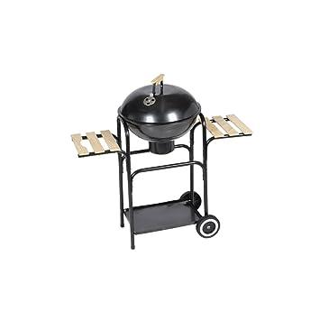 Festnight Barbacoa de Carbón Redonda para Louisiana Material de Acero