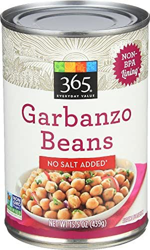 Beans: 365 Everyday Value No Salt Added Garbanzo Beans