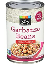 365 Everyday Value, Garbanzo Beans, No Salt Added, 15.5 oz