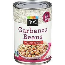 365 Everyday Value, Garbanzo Beans No Salt Added, 15.5 Ounce