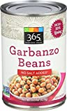 365 Everyday Value Garbanzo Beans No Salt Added, 15.5 oz
