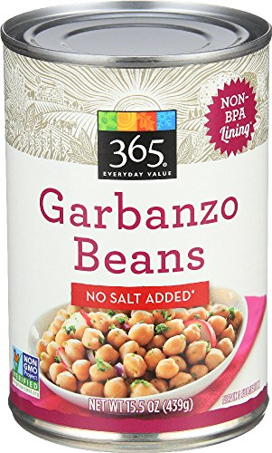 - 365 Everyday Value, Garbanzo Beans, No Salt Added, 15.5 oz